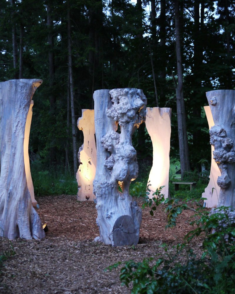 Sentinel Sculptures outdoors