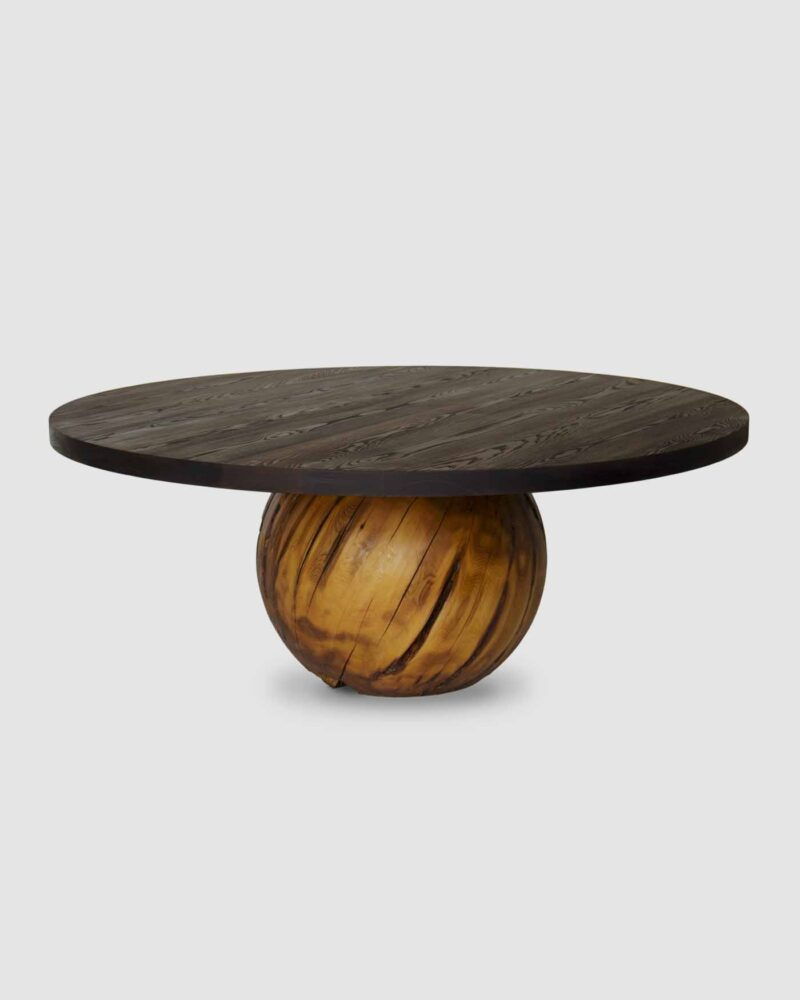 Sphere Dining Table with Thermalwood Top