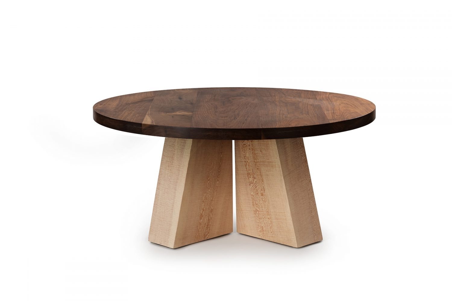 "Sweep Double Pedestal Table 60"" Walnut Top"